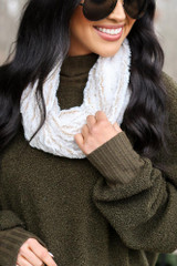 Ivory - Faux Fur Infinity Scarf