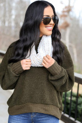 Ivory - Faux Fur Infinity Scarf from Dress Up
