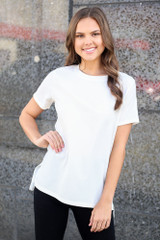 Ivory - Basic Textured Top