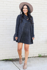 Crossover Cowl Neck Sweater Tunic