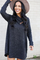 Crossover Cowl Neck Sweater Tunic from Dress Up