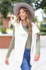 Ivory - Sherpa Vest from Dress Up