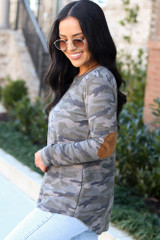 Camo - Elbow Patch Camo Top from Dress Up