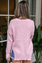 Blush - Plush Knit Sweater Back View