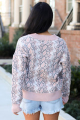 Luxe Knit Snakeskin Sweater Back View