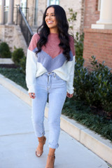 Mauve - Color Block Sweater from Dress Up