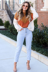 Camel - Color Block Sweater from ShopDressUp