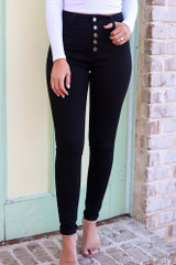 Black - High-Rise Skinny Jeans from Dress Up