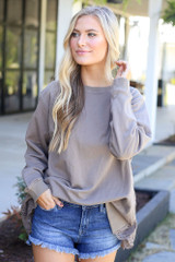 Eyelet Ruffle Pullover from Dress Up