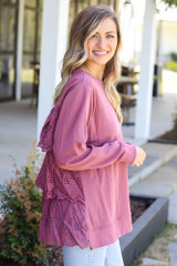 Eyelet Ruffle Pullover from Dress Up Side View