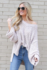 Oversized Popcorn Knit Top from Dress Up