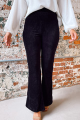 Black - Corduroy Flare Pants from Dress Up