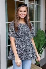 Spotted Tiered Babydoll Top
