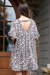 Leopard - V-Neck Babydoll Dress from Dress Up