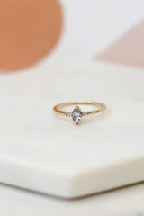 Close Up of a small rhinestone ring in the Rhinestone Ring Set