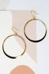 Gold - Drop Hoop Earrings from Dress Up