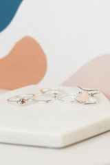 Silver - Flat Lay of the Assorted Ring Set