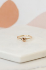 Flat Lay of a gold ring in the Assorted Ring Set