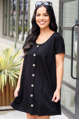 Model wearing the Button Front Dress
