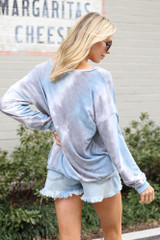 Tie-Dye Lightweight Oversized Pullover Back View