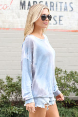 Tie-Dye Lightweight Oversized Pullover Side View