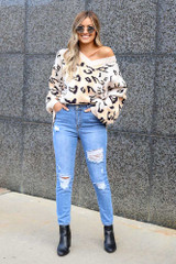 Color Block Leopard Luxe Knit Top from Dress Up
