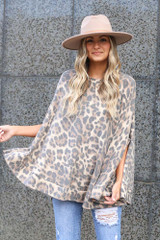 Leopard - Fleece Poncho from Dress Up