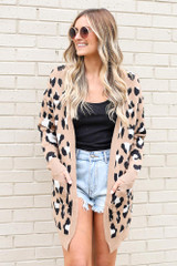 Leopard Luxe Knit Cardigan from online dress boutique