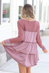 Waffle Knit Oversized Top Back View