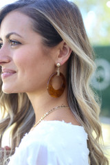 Acrylic Statement Earrings in Brown from Dress Up Boutique