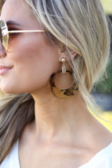 Acrylic Statement Earrings in Black from online dress boutique