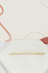 Pearl bobby pin flat lay from dress up