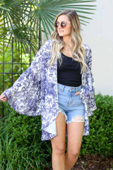 Bell Sleeve Printed Kimono from Dress Up Boutique