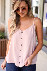 Mauve - Textured Button Up Tank from Dress Up