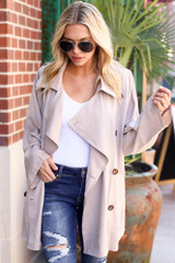 Taupe - Lightweight Trench Coat from Dress Up
