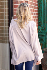 Lightweight Trench Coat Back View