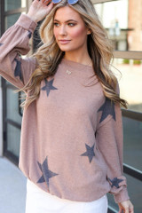 Model wearing the Star Brushed Knit Top from Dress Up