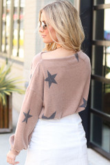 Back View of the Star Brushed Knit Top on Model from Dress Up