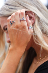Silver - Boho Ring Set from Dress Up