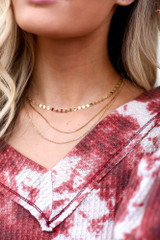 Model wearing the Layered Chain Necklace