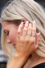 Gold - Dainty Ring Set