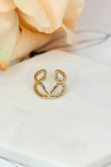 Flat Lay of one of the rings in the Dainty Ring Set
