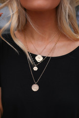 Sawyer Layered Coin Necklace
