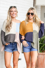 Color Block Lightweight Knit Top