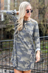 Camo - French Terry Camo Dress from dress up boutique