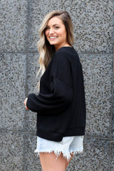 back view comfy oversized pullover