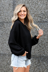 ribbed knit oversized pullover
