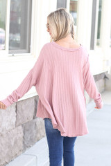 back view oversized lightweight top