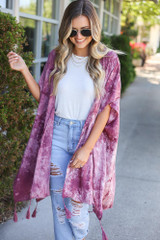 Blush - cute lightweight kimono with tassels