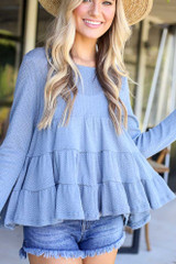 Knit Tiered Babydoll Top from Dress Up Front View